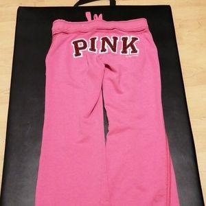 Pink sweats pants